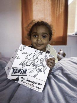 kevin-the-kangaroo-girl-showing-book